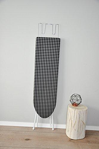 Bügelbrett Bügeltisch Bügelstation 110x30x90 cm Bügel Tisch Bügeleisenablage Höhenverstellbar (Schwarz)