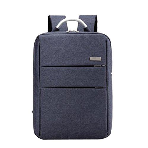 Unisexe Superbe Qualité Classique Durable Ordinateur Portable Business Casual Sac à Dos Sauvage Bagages Multicolor,Blue-M