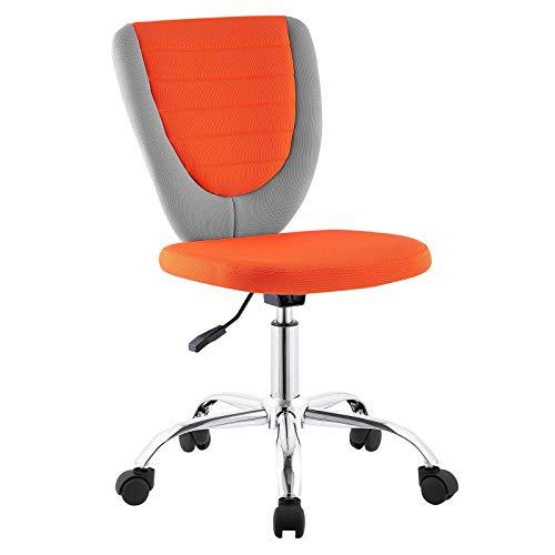 CARO-Möbel Kinderdrehstuhl Future Schreibtischstuhl Drehstuhl in grau/orange, höhenverstellbar