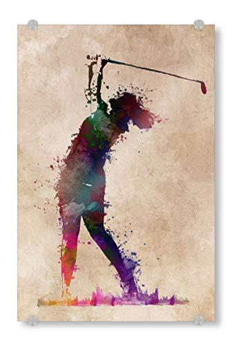 ild 150x100 cm Sport Golfspieler Bild hinter Acrylglas - Bild Golf Golfspieler Golf ()