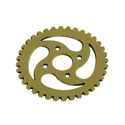 Steampunk Zahnrad Ring (Paket 10 x Steampunk Antik Bronze Tibetanische 30mm Charms Anhänger (Zahnrad) - (ZX11095) - Charming)
