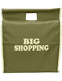Big Shopping Bag With Stick Handle/Vegetable Bag/Grocery Bag/Travel / Storage Bag- (18x6x20.5inch) - Green