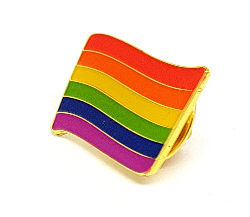 Rainbow Lesbian Gay Transgender Bisexual Diversity wavey without Pole Flag Metal Enamel Pin Badge Brooch | High Quality Metal Enamel Pin Badge Lapel Brooch Novelty Collectable Gift Jewellery for Clothes Shirt Jackets Coats Tie Hats Caps Bags Backpacks