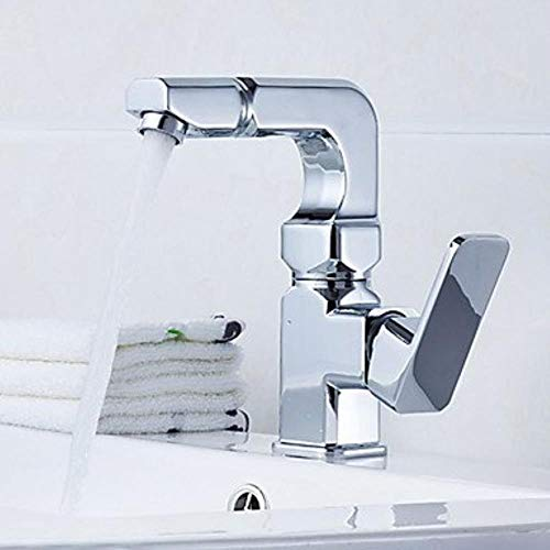 XSRKHome®Contemporary Country Modern Centerset Widespread withCeramic Valve Single Handle One Hole forChrome, Bathroom Sink Faucet