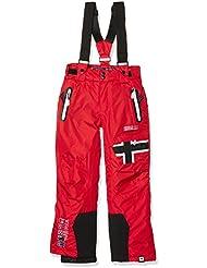 Geographical Norway Wn816e/Gn - Pantalón de esquí para niño, Niño, color rojo, tamaño 16 años