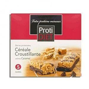 Protidiet - Protidiet Barres Proteinees Cereales Croustillante - Arome : Caramel - Contenance : 5 Barres