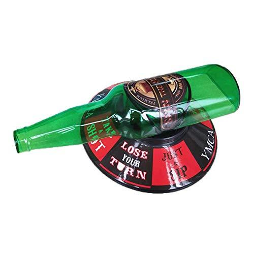 (Huaqiang Party Dekoration Spielzeug Weinflaschen Rotierende Spiele Weingläser Trinkspiel Bar Game Set)