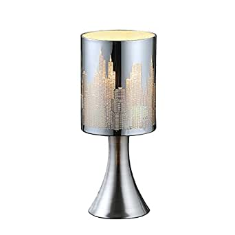 tischlampe tisch lampe leuchte licht beleuchtung tischleuchte esto skyline 922065. Black Bedroom Furniture Sets. Home Design Ideas
