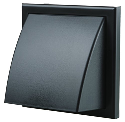 Blauberg UK Decor 155x 155/100HK schwarz 100mm 4-Zoll rund Kunststoff wickelfalzrohren und Formteilen für Abluftventilator Belüftung-schwarz -