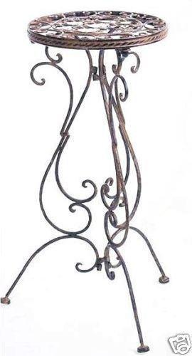Tavolino 1853porta fiori sgabello avis in ferro battuto h di 60cm