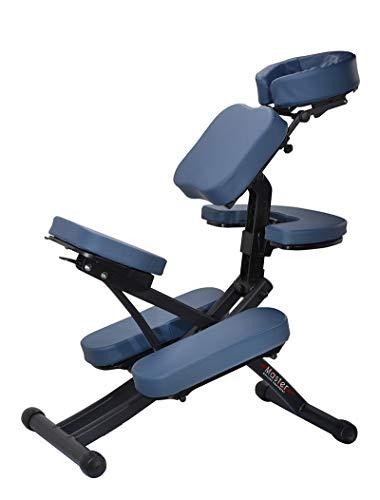Master Massage Rio Stuhlpaket, Portable Seilsunterstützung Mobil Massagestuhl mit Metalfuß und Tragetasche königsblau
