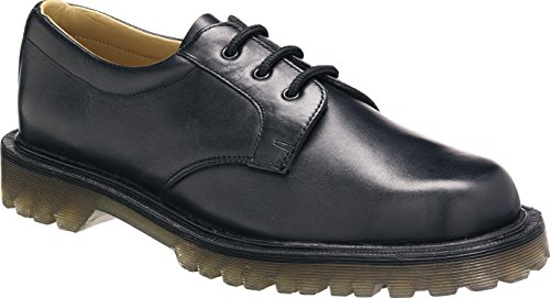 Tuffking 4223 Black Gibson Air Cushion Quality Leather Wide Fit Uniform Shoes (11 UK)
