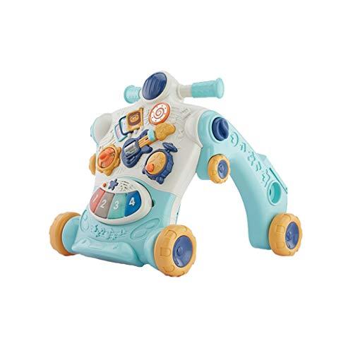 Love lamp-reisesysteme Baby Walker Trolley Multifunktions-Puzzle Baby Walker Erfahren Sie, wie Man langsam und stetig Schlupf-Walker-Spielzeug geht (Color : Green)