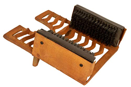 ARSUK Robust Cast Iron Outdoor Muddy Boot Shoe Footwear Rack, Scraper