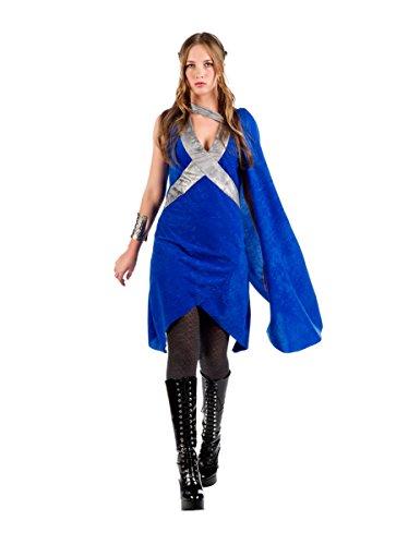 s Mittelalterkostüm für Frauen Blau-Silber M (Targaryen Daenerys Kostüm)