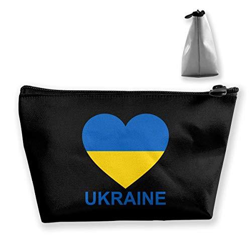 Travel Cosmetic Bag Love Ukraine Tragbare Trapez Make-up Tasche Mäppchen Clutch Bag - Nyx Make-up Tasche