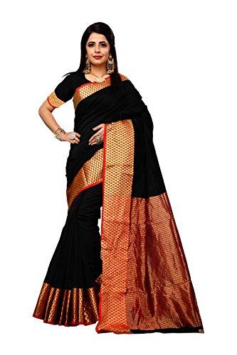 Vahni Women's Bhagalpuri Silk Saree With Blouse Piece Material