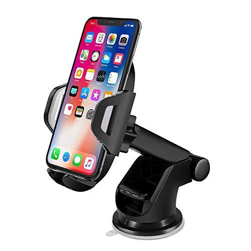 solawill Handyhalterung Auto, KFZ Handyhalterung mit Gel-Saugnapf Shalter Teleskoparm 360°Drehbarem Kugelgelenk Autohalterung für iPhone XR XS X, Samsung S9 S9, Huawei, HTC