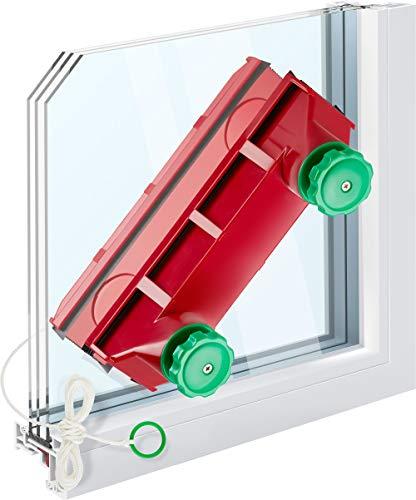 Tyroler Bright Tools The Glider D-4 verstellbare magnetische Fensterreiniger, der extrem dicke doppelt verglaste Fenster & einzelne verglaste Fenster reinigt. Passend für 2-40 mm Fenster