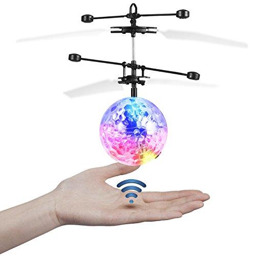 ferngesteuerter ball JAMSWALL RC Fliegender Ball, Etpark RC Infrarot Induktionshubschrauber RC Spielzeug Ball mit LED Leuchtung für Kinder (Ohne Fernbedienung)