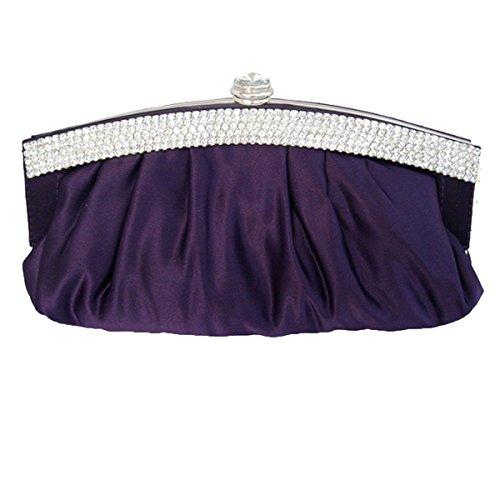 Frau 2017 Clutch Partei-Cocktailkleid-Zubehör-Paket Purple