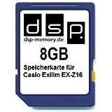 DSP Memory Z de 4051557406278tarjeta de memoria de 8GB para Casio Exilim EX-Z16