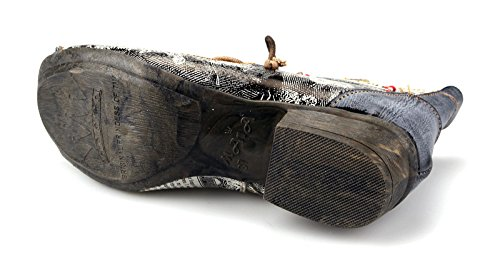 5ebd8762af3be5 ... TMA Damen Stiefeletten Boots Stiefel Leder Damenschuhe 8778 Schwarz    Grau ...