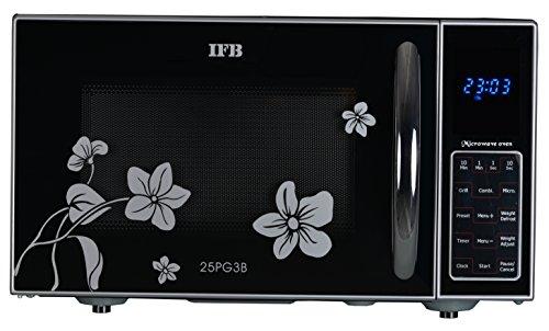 IFB 25 L Grill Microwave Oven (25PG3B, Black+Floral Design)