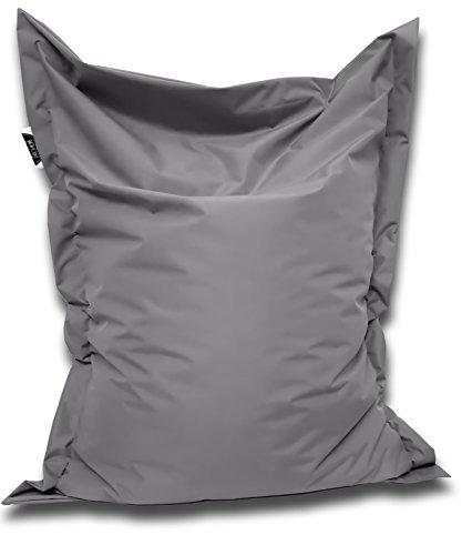 Patchhome Sitzsack und Sitzkissen Eckig - Anthrazit - 180x145cm in 25 Farben und 7 Versch. Größen