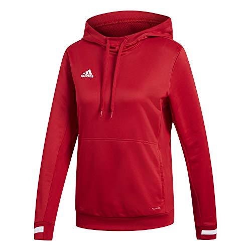 Adidas T19 Hoody W Sweat-Shirt Femme, Power Red/White, FR (Taille Fabricant : XL)