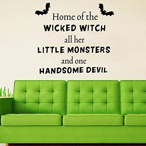 ziweipp 2514 Halloween Wicked Witch Wandaufkleber Halloween Party Dekorationen Für Fenster Und Hintergrund Von Home School Store Und Einkaufszentren 57 * 49 cm (Halloween-store In Australien)