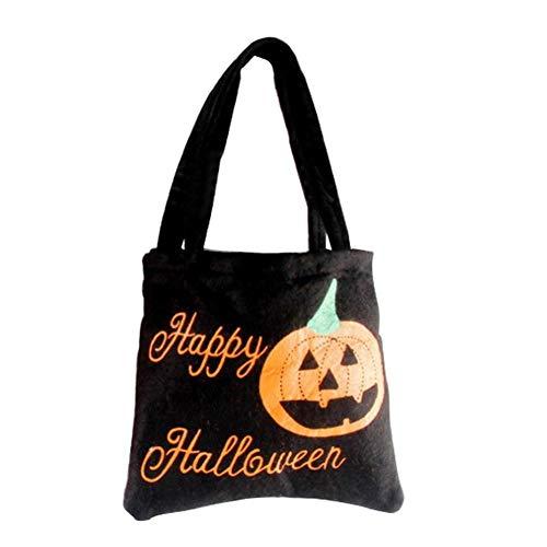 Halloween-Tote Bag Trick or Treat Bag Kürbis Candy Bags Trick or Treat Goody Bag Gift Bag For Children Halloween Mottoparty Schwarz