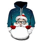 Dylung Männer Tops Herren Herbst Winter Weihnachten 3D Printed Langarm Hoodie Pullover Outwear Kapuzenpullover Sweatshirt Kapuzenpulli Tops Bluse Bluse Herren
