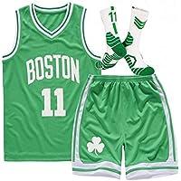 HDJX Uniforme de los niños Baloncesto, Boston Celtics, 11, Kyrie Irving, Baloncesto Camisa sin Mangas, clásico Retro de la Camiseta Superior, de Malla Transpirable de Deporte XL