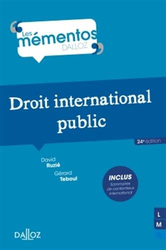 Droit international public - 24e éd. par David Ruzié