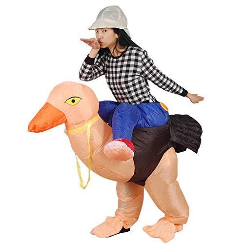 MIMI KING Halloween Aufblasbare Reiten Straußen Kostüm, Dress Up Lustige Simulation Luxus Cosplay Hosen