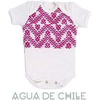 Body niña, 9-12 M, color rosa con bordado mexicano hecho a mano