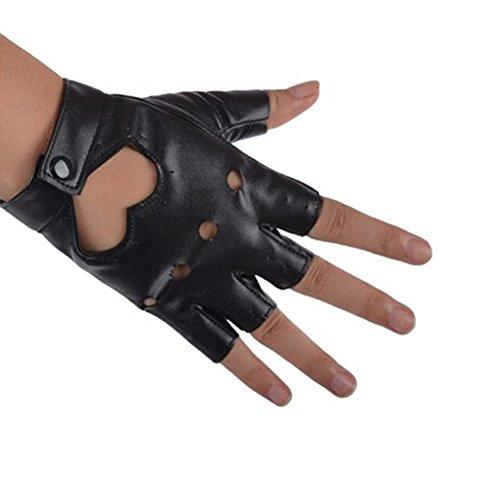 Wildlead donne moto bici auto performance guanti senza dita in pelle PU