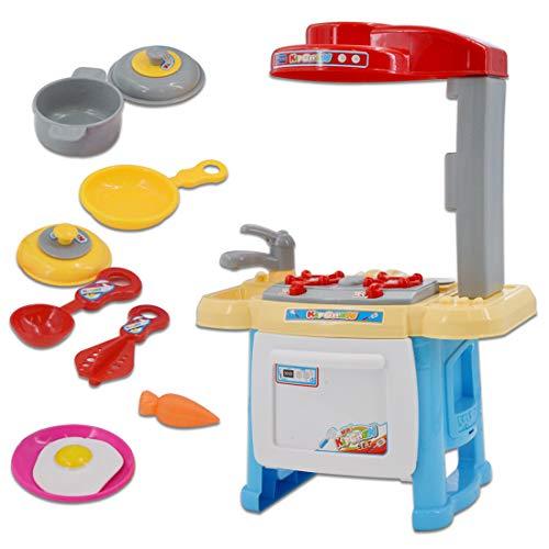 deAO Cocina Mini de Juguete Mi Primera Cocinita Playset...