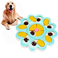 WINKE Dog Puzzle Feeder Toy,Slow Feeder Dog Bowl,Puppy Treat Dispenser Toy,Dog Training Games Feeder with Non-Slip, Improve IQ Puzzle Bowl for Puppy Pet