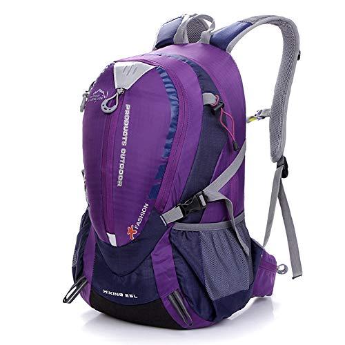 Doppel Plus Rucksack Mode Sport Outdoor Rucksack Wandern Camping Tasche Männer Und Frauen Wandern Rucksack Reiten Rucksack Lila