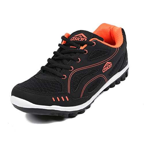 Asian-Shoes-MANGO-Black-Orange-Womens-Shoe