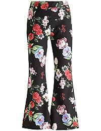 Amazon.it  pantaloni fiori  Abbigliamento 128f7a2742f