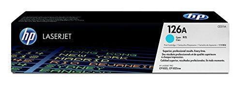 HP 126A (CE311A) Blau Original Toner für HP Color Laserjet Pro CP1025, M175, TopShot Laserjet Pro M275