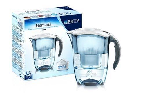 Brita Elemaris Cool Premium Design-Wasserfilter mit 1 Maxtra-Kartusche, weiss