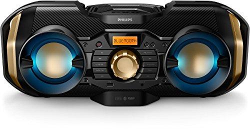 Philips CD Soundmachine Home Audio Bluetooth USB Wireless Megasound Hi-Fi System 50W Dynamic (CD, CD-R, CD-RW, CD Audio, MP3 Black, Blue, Gold)