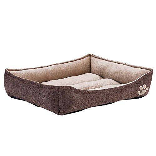 Zooplus Niche/Lit pour Chien pour intérieur-90x 65x 20-Marron-Bed Dog-Nouveau, XL