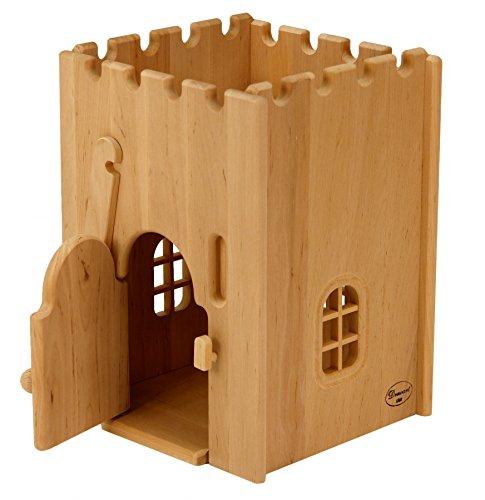 931 1100 Gefängnis für Drewart Ritterburg aus Holz, ökologisches Holzspielzeug