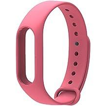 COOSA Correa de Recambio Brazalete Extensibles coloridos impermeables para reemplazo Pulsera XIAOMI Wireless Recambio para Pulsera Inteligente XIAOMI MI band 2 (sin Rastreador de actividad) (rosa, para xiaomi pulsera inteligente 2)