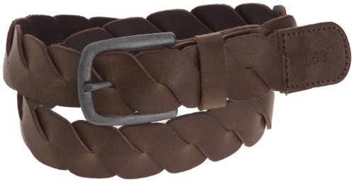 Lee Ls16 Folded Belt, Ceinture Marron (Dark Brown)